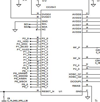 com/   搜索内容:cc2541 密钥卡参考设计 原理图 请点击此参考设计