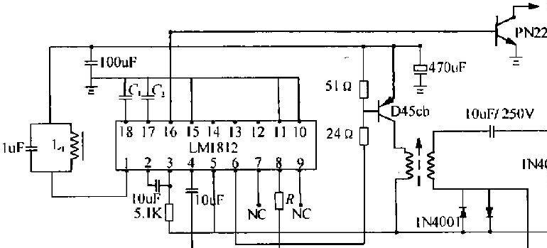 LMISI2构成的超声波换能器驱动和接收电路