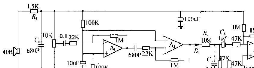 运放构成的超声波接收电路