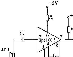UPC1018C构成的超声波接收电路